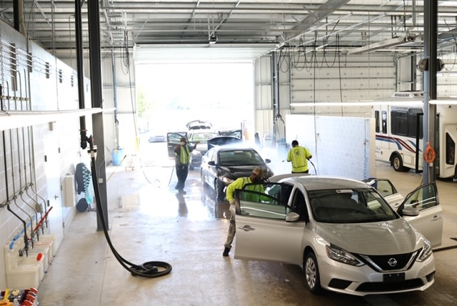 Greenville Auto Auction's premier warehouse and car services